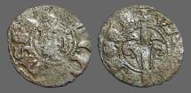 Ancient Coins - James I of Aragon billon Denar.  1232-1276 AD.  Reverse features a tree.