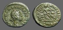 Ancient Coins - Arcadius AE4 Victory adv. left w. wreath