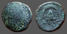 Ancient Coins - Kings of Macedon Demetrios I Poliorketes AE16  Macedonian / Helmet