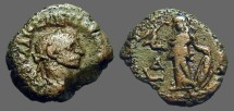 Ancient Coins - Diocletian Billon Tetradrachm Athena stands left holding Victory and shield