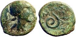 Ancient Coins - Mysia, Pergamon. King Philetairos  AE16 Athena / Serpent rising