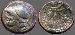Ancient Coins - Bruttium, The Bretti. AE25 Didrachm.  Ares / Athena w. spear & shield