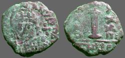 Ancient Coins - Justinian I AE19 Decanumium.  Antioch.  year 33