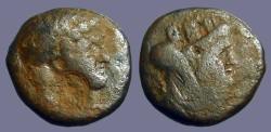 Ancient Coins - Titus AE23, Decapolis, Gadara / Bust of Herakles, countermark of Herakles