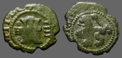 World Coins - Philip III AE16 (4) Maravedis. 1615 Burgos Mint