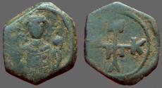 Ancient Coins - Manuel I AE 1/2 Tetarteron. Monogram #58