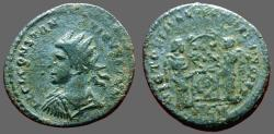 Ancient Coins - Constantine II, AE3 radiate bust left / Victoires inscribing shield   London