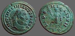 Ancient Coins - Maximianus AE30 Follis. Fides w. standards.  Ticinum