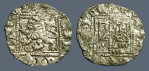 Ancient Coins - Enrique II AR18 Noven Castle / Lion.  1369-1379