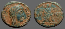 Constantine I The Great AE4 Constantine veiled and standing right
