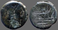 Ancient Coins - Roman Republic  AE32 As.  Janus / Galley Prow