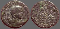 Ancient Coins - Severus Alexander AE23 Tyche on rocks.  Mesopotamia, Edessa
