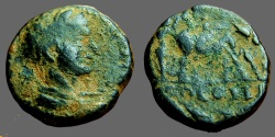 Ancient Coins - Elagabalus AE19 Decapolis, Petra. Founder plowing w. oxen