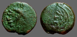 Ancient Coins - Judaean, Antoninus Felix as Procurator AE Prutah, Year 14 (54 AD).