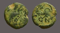 Ancient Coins - Leo I AE4 nummus / lion reverse.  Constantinople.
