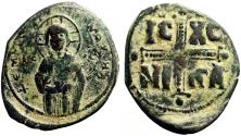 Ancient Coins - Anonymous Class C AE30 Follis. Attributed to Michael IV