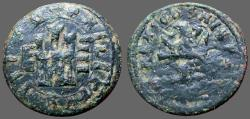 World Coins - Philip III AE20 (4) Maravedis.  Castle / Lion.  1605