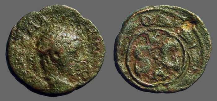 Ancient Coins - Severus Alexander AE17 Antioch on Orontes SC within circle & wreath.