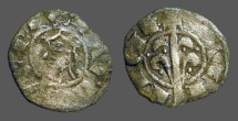 Ancient Coins - James I of Aragon billon Denar.   1232-1276 AD.