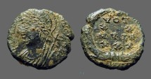 Ancient Coins - Constantius II AE3 Helmeted Roma / Vows in wreath