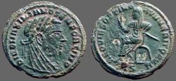Ancient Coins - DIVO MAXIMIANUS AE16 Quarter Follis.  Struck under Constantine I