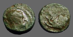 Ancient Coins - Seleukid Kingdom. Antiochos IV AE16 Elephant