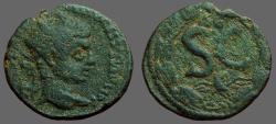 Ancient Coins - Caracalla AE18 Antioch, Syria, SC within wreath.