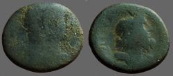 Ancient Coins - Hadrian Æ23  Judaea, Caesaraea Maritima.  Sarapis