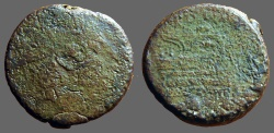 Ancient Coins - Roman Republic AE29 very early Sextans. (6th standard @ 27g)