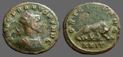 Ancient Coins - Probus billon Antoninianus.  Wolf and Twins.