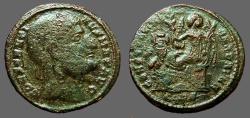 Ancient Coins - Constantine I The Great AE3 Eyes to Heaven / DAFNE  Victory on cippus
