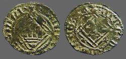World Coins - Enrique IV billon Blanca. 1471-1474 Castilia and Leon