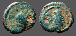 Ancient Coins - Justin I AE Pentanummium, Tyche of Antioch in shrine, Antioch.   SB#111.