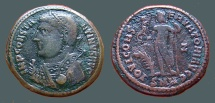 Ancient Coins - Constantine the Great AE3.Mantled bust l w. mappa / Jupiter