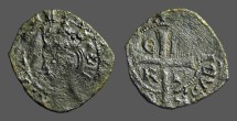 Ancient Coins - Enrique II Cruzado, Bust of Enrique II / Long Cross w. E-N/R-I