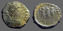 Ancient Coins - Honorius AE4 Theodosius II, Aracadius, Honorius stg.   Antioch, Turkey.   Super nice reverse!