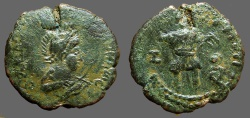 Ancient Coins - 4th Century Roman Imitative Centionalis of Valentinian II