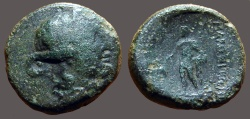 Ancient Coins - Thrace, Maroneia AE19 Dionysos / Dionysos w. grapes and narthex wands