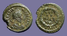 Ancient Coins - Gratian AE4 Vows in wreath.  VOT/XV/MVLT/XX.  Siscia