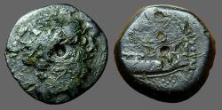 Ancient Coins -  Demetrios I  AE18 Galley