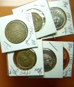 World Coins - 6 Coins of Mexico