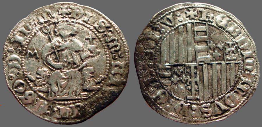 World Coins - Ferdinando I AR27 Carlino.  Italy, Napoli