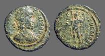 Ancient Coins - Constantius II AE3 Spes Reipublicae.  Roma stg. left w. globe & spear.