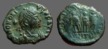 Ancient Coins - Honorius AE4 3 Emperors reverse.  Antioch Mint