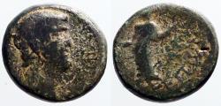 Ancient Coins - Nero AE16 Mastaura, Lydia. Goddess