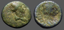 Ancient Coins - Stratonicea-Hadrianopolis AE16 Bust of Roman Senate / Bust of Roma!