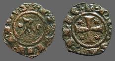World Coins - Sicily billon denaro 16mm Manfred I / Cross w. star in each quartile