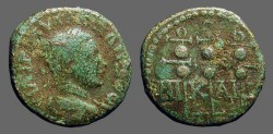 Ancient Coins - Severus Alexander AE19 Legion Standards, Nicaea.
