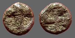 Ancient Coins - Thrace, Apollonia Pontica AR Silver 1/4 Obol Anchor / Swastika w. curled ends