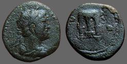 Ancient Coins - Hadrian AE19 Semis.  Lyre.